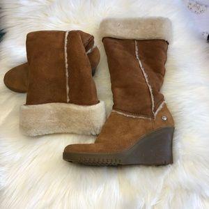 UGG suede wedges/ heeled boots